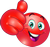 Red Happy Emoticon