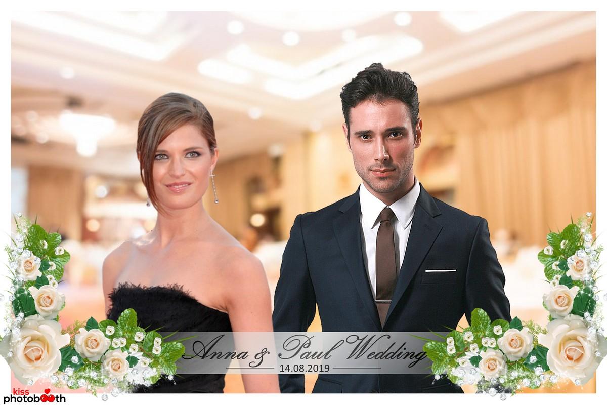 Photo Design Wedding Layout 5 (Rose Arrangement - White frame)